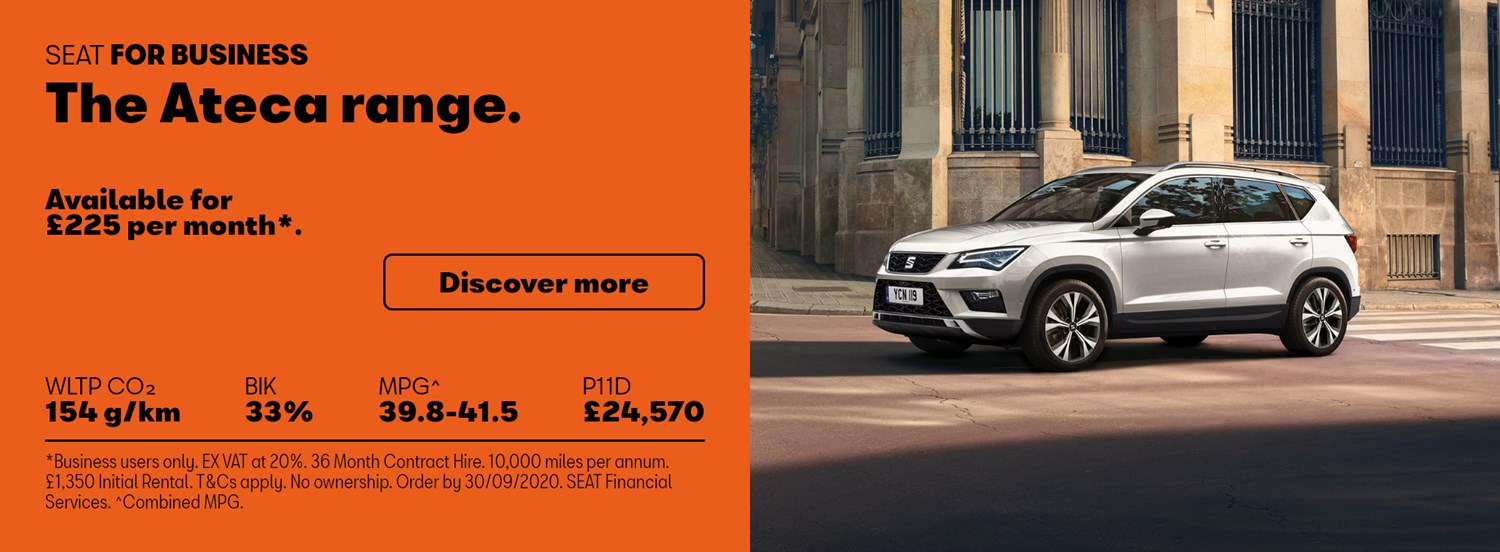 New SEAT Ateca with business contract hire offer
