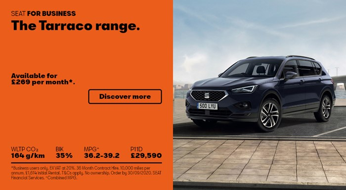 SEAT Tarraco from £269 per month for Business Users
