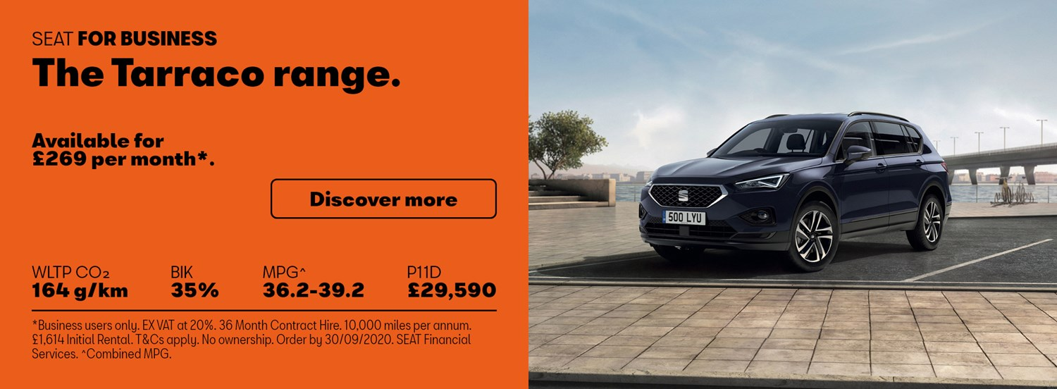 SEAT Tarraco with business contract hire offer