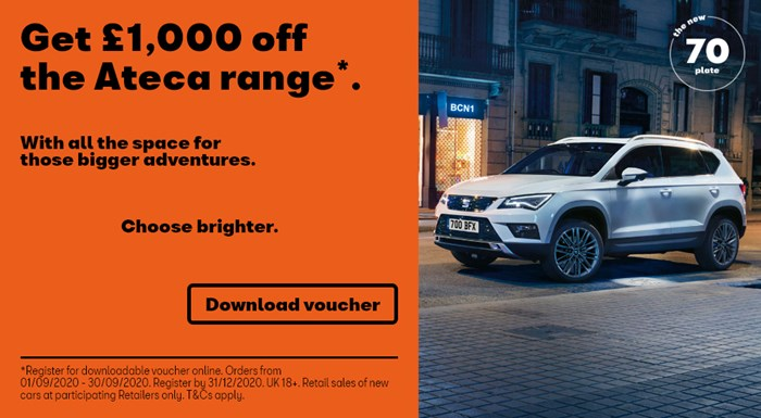 SEAT Ateca offers including £1000 off and nothing to pay for 3 months