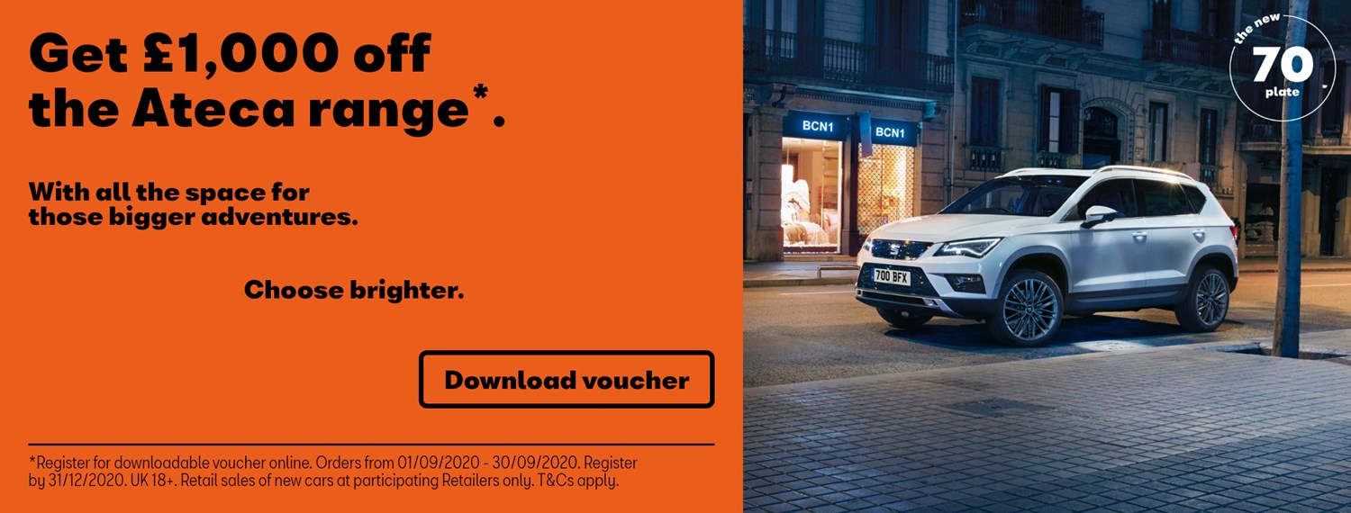 SEAT Ateca with £1000 off offer