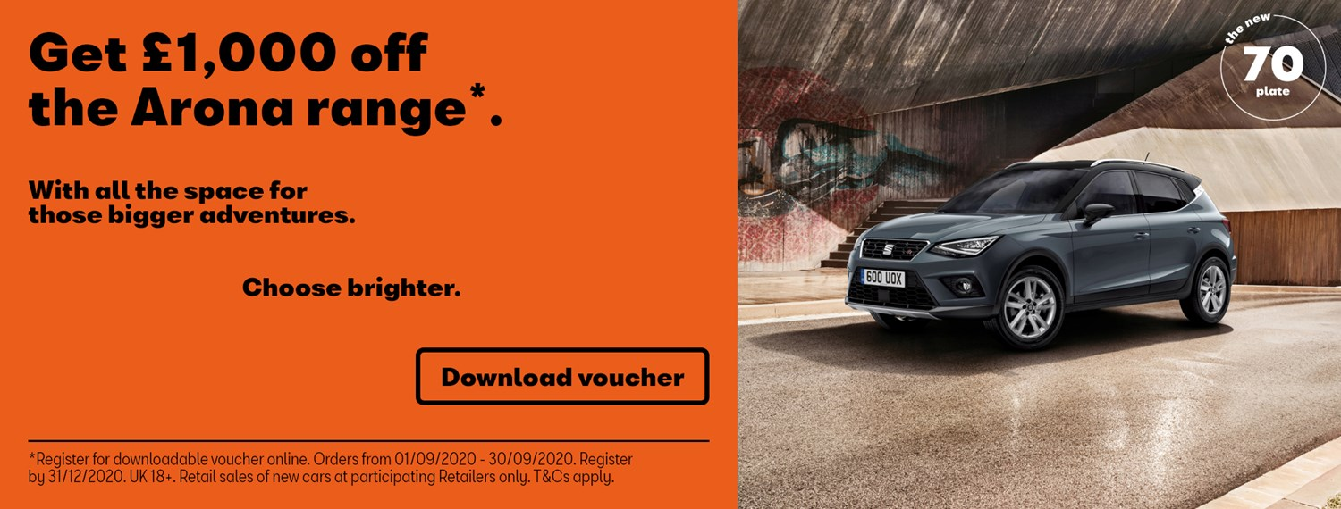 SEAT Arona with £1000 off offer
