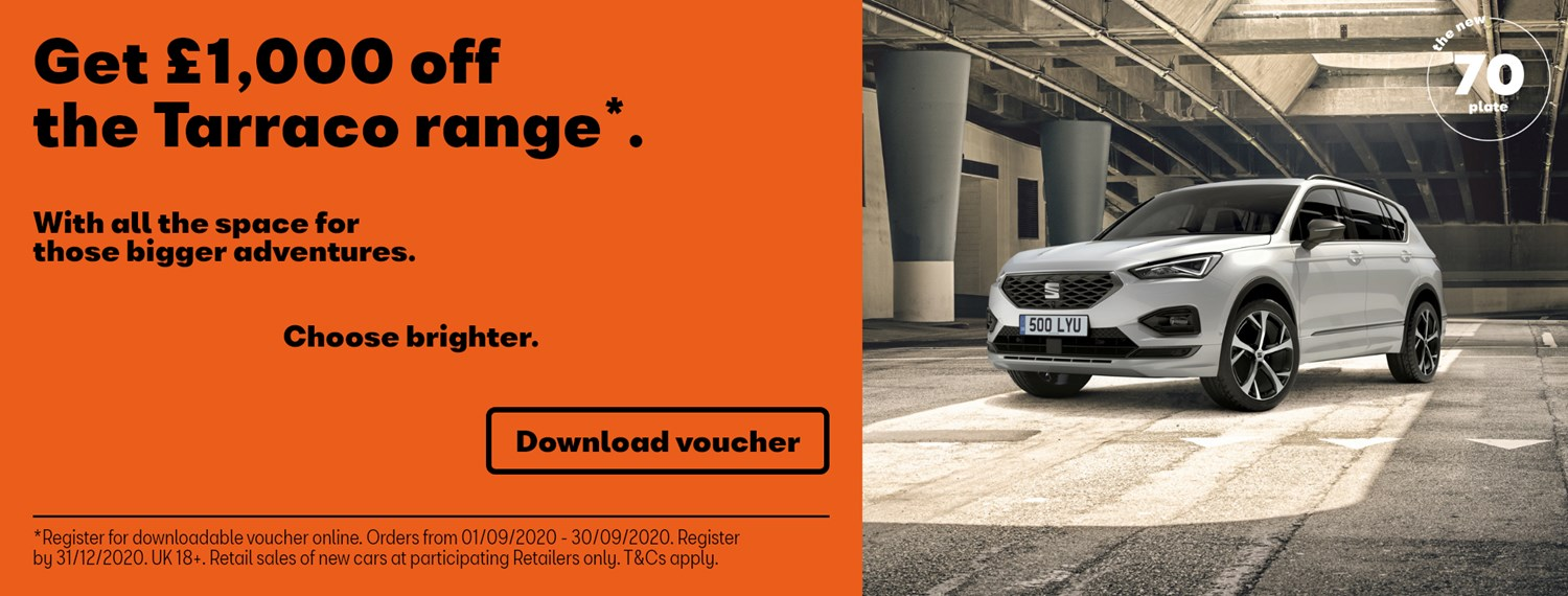 SEAT Tarraco with £1000 off offer