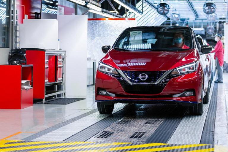 Nissan celebrates production of the 500,000th LEAF