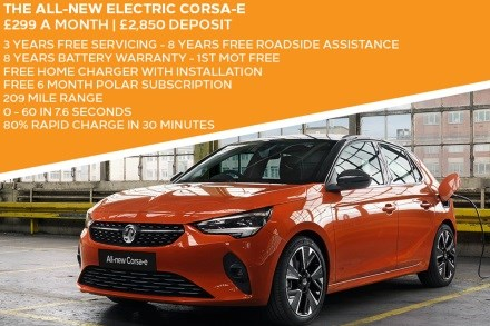 All-New Vauxhall Corsa Electric - £299 A Month With £2,850 Deposit