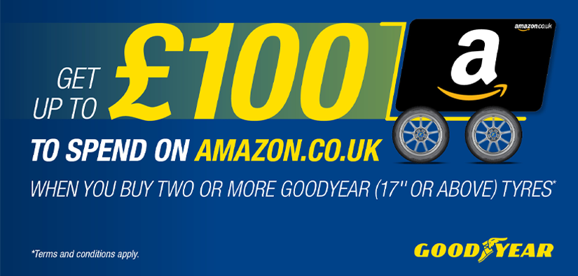 £100 Amazon voucher when you purchase Goodyear tyres!