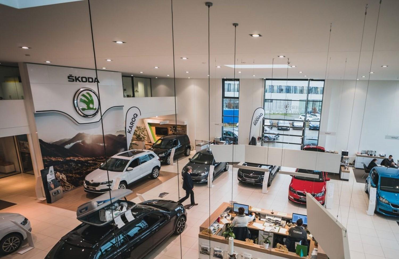 Skoda Sinclair dealership interior