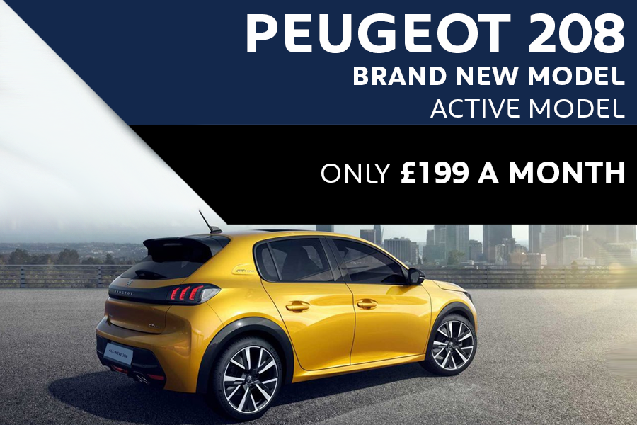 All-New Peugeot 208 From £199 A Month