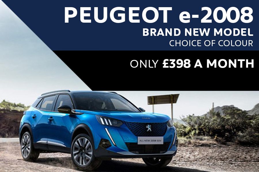 All-New Peugeot e-2008 SUV - Only £398 A Month