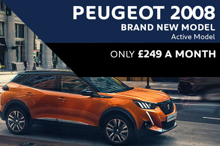 All-New Peugeot 2008 SUV - Only £249 A Month