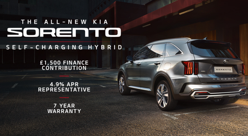 All-New Kia Sorento with upto £1500 deposit contribution