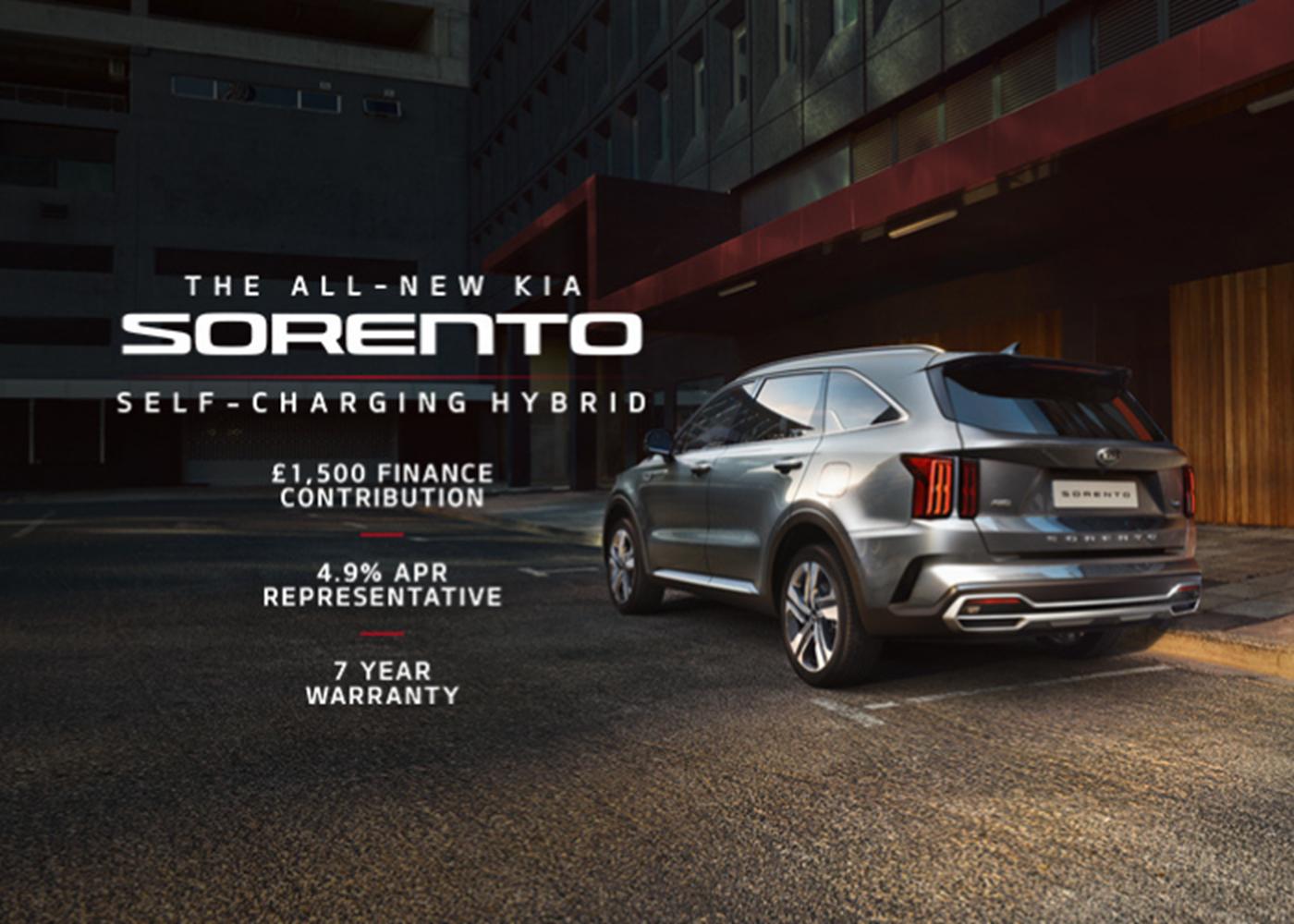 All-New Kia Sorento with 4.9% APR at Chippenham Motor Company