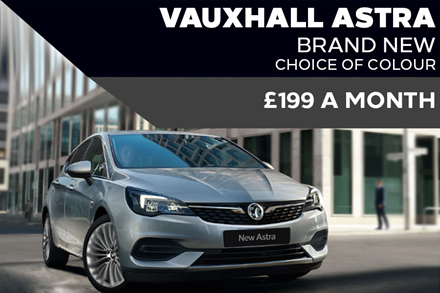 New Vauxhall Astra Light - Now £199 A Month