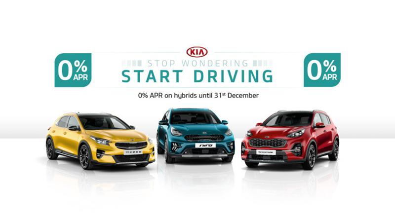 0% on Kia Hybrid vehicles until 31st December 2020