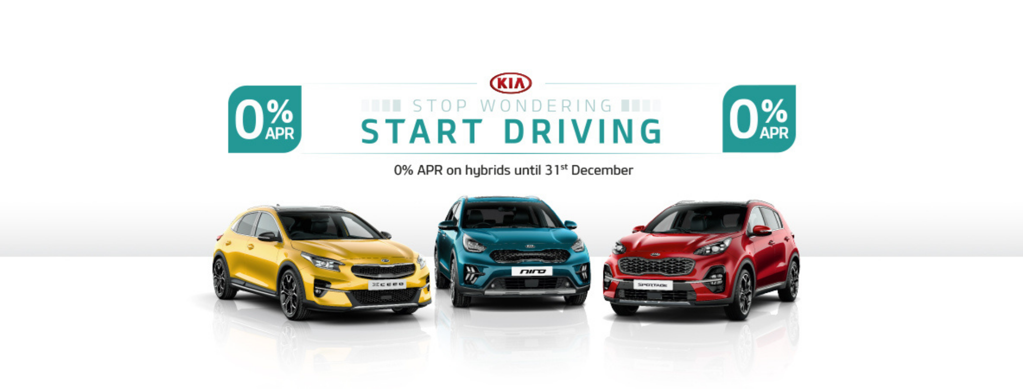 Kia Sportage, Xceed and Niro Hybrids with 0% APR at Chippenham Motor Company