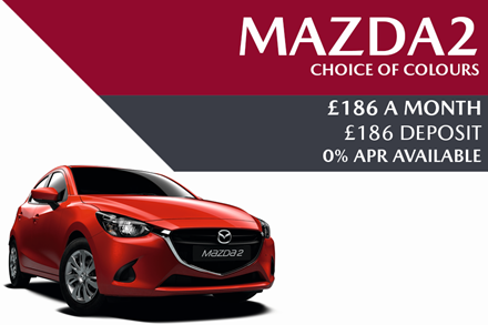 Mazda2 - Now £186 A Month With £186 Deposit And 0% Finance Available