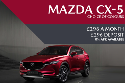 Mazda CX-5 - Now £296 A Month   £296 Deposit And 0% Finance Available