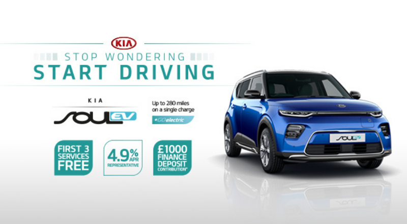 All-New Kia Soul EV from £399 per month