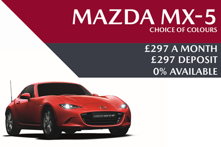 Mazda MX-5 - Now £297 A Month   £297 Deposit And 0% APR Available