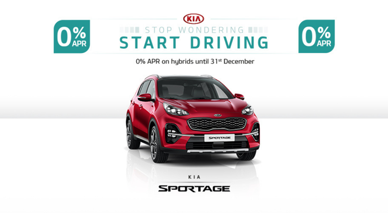 Kia Sportage with 0% APR from £249 per month