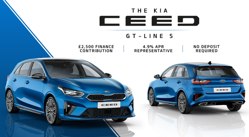 Kia Ceed with up to £2500 deposit contribution