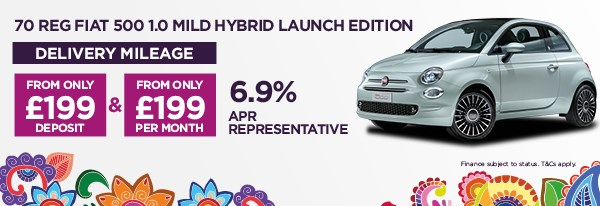 70 REG Fiat 500 1.0 Launch Edition Mild Hybrid