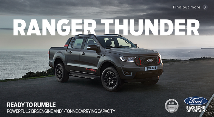 Ford Ranger Thunder from £335 per month with 0% APR