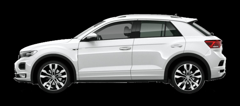 new white volkswagen t-roc r-line