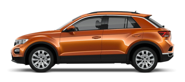 New VW T Roc SE in Orange