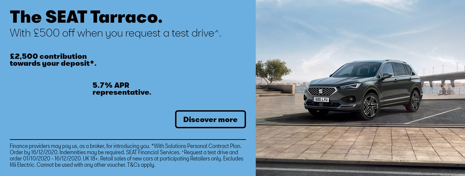 New SEAT Tarraco with offer