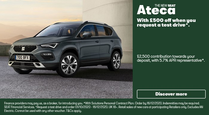SEAT Ateca with £2500 deposit contribution