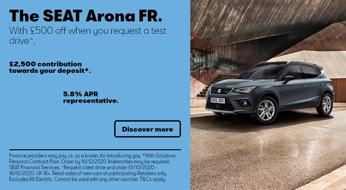 SEAT Arona with £2500 deposit contribution