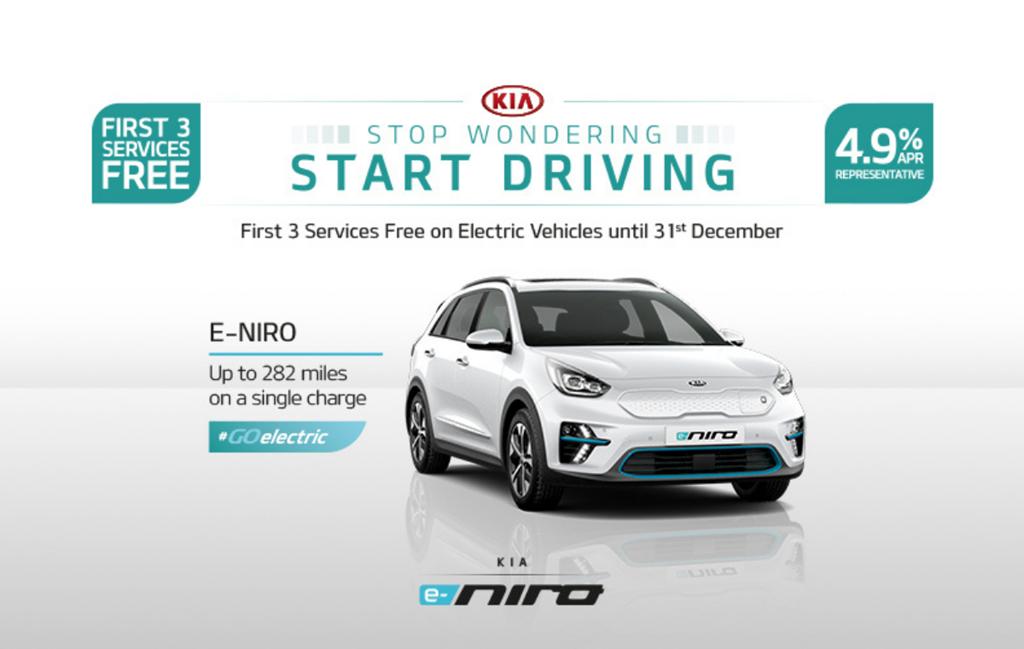 Kia e-Niro with 4.9% APR at Chippenham Motor Company