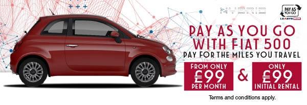 Brand New Fiat 500 Hybrid- £99 & £99