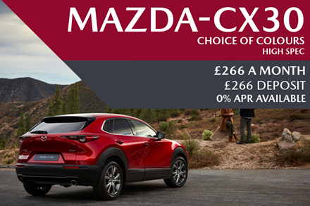 All-New Mazda CX-30 - Now Available For £266 A Month With £266 Deposit And 0% Finance Available
