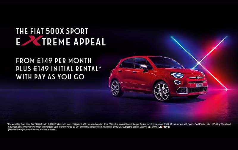 Fiat 500X Sport from £149pm