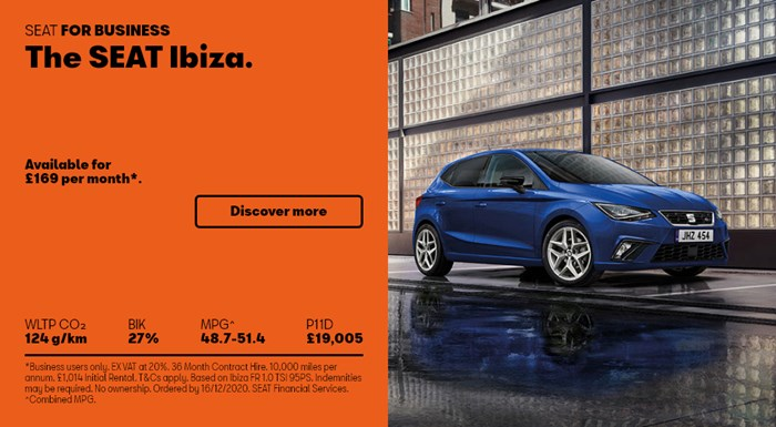 SEAT Ibiza from £169 per month for Business Users