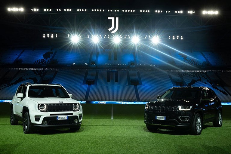 Juventus takes to the field with electrifying Jeep® 4xe performance