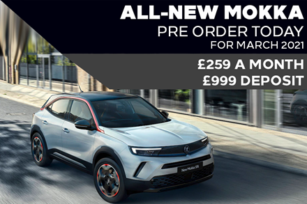 All-New Vauxhall Mokka - £259 A Month | £999 Deposit