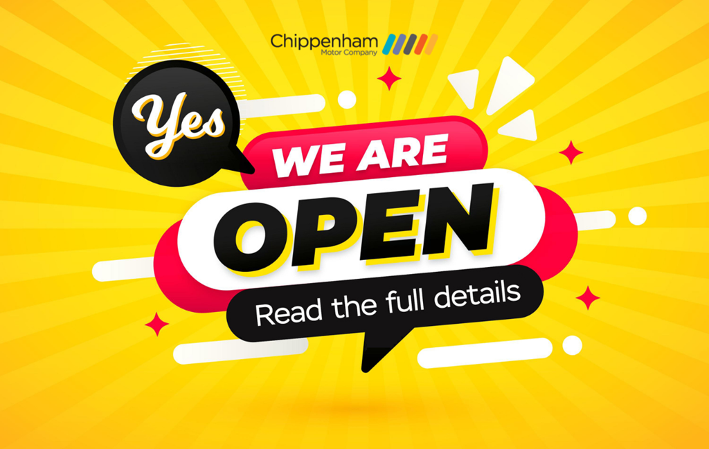 Chippenham Motor Company are open