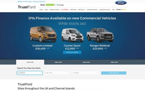 TrustFord website screenshot