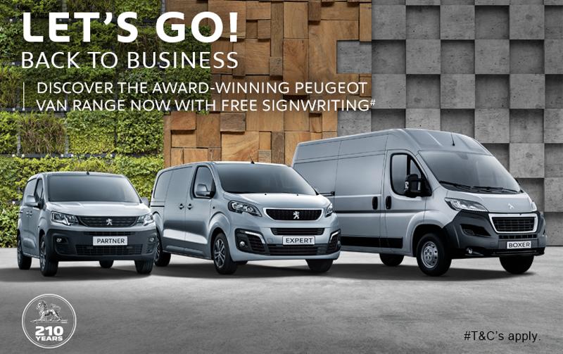 Free signwriting with the Peugeot van range!