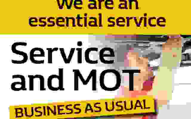 We Are Open For Business For MOT & Service and Virtual Showroom Sales