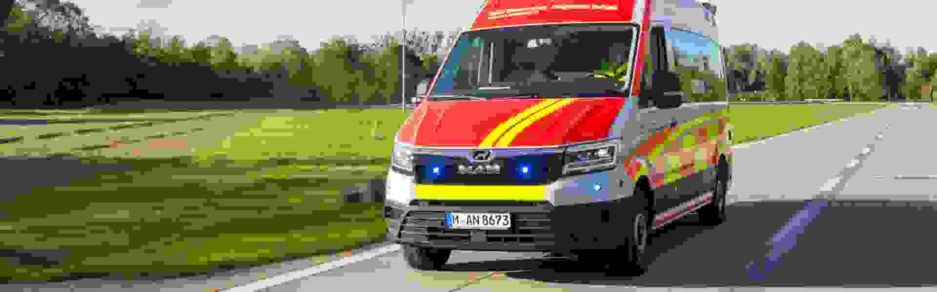 MAN presents its mobile coronavirus test vehicle: PCR test results available within one hour