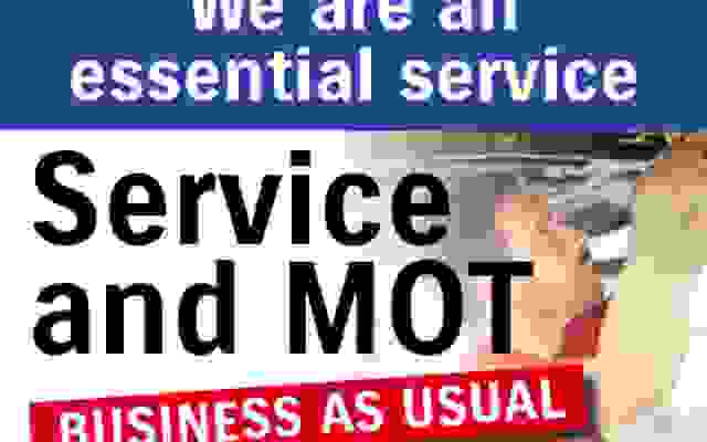 Business as Usual for Service, Repair, MOT & Parts