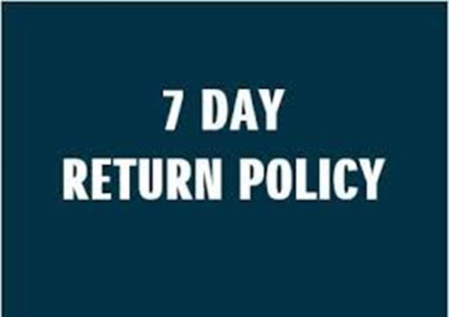 7 Day Return on new