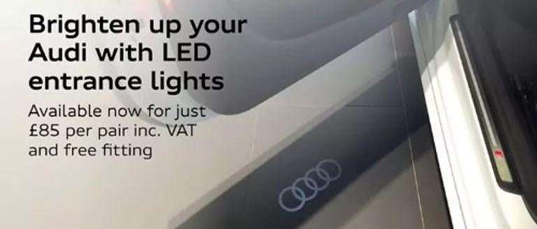 Audi LED Entrance Lights