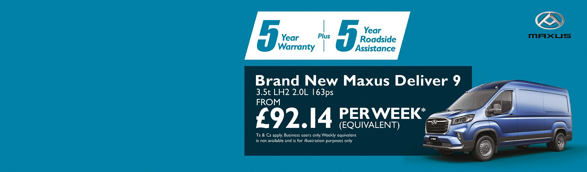 Brand new Maxus Deliver 9