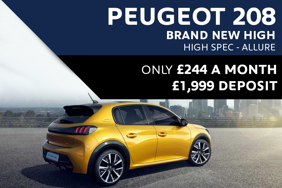 All-New High Spec Peugeot 208 Allure For £244 A Month