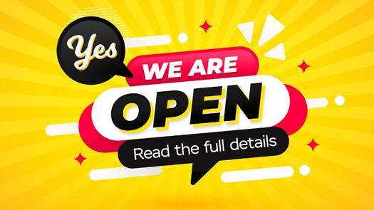Dealerships Re-Opening   2nd December 2020